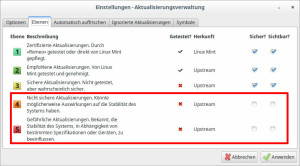 Linux Mint setzt mehr auf Stabilität als auf Sicherheit, das wird häufig kritisiert.