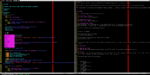 Vim bringt eigentlich schon alles mit um es als IDE zu nutzen.