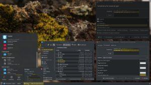 Das KDE/Plasma Farbschema zu ändern ist etwas aufwändiger, aber machbar.
